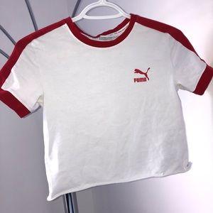 Cropped puma shirt